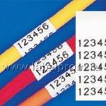 M21-125-C-342 термоусадочная трубка 5,97mm/2,13m (d3,2mm), черный на белом brd110923
