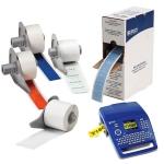 BM71C-2000-855-WT Белые матовые этикетки из полиэстера brd711235